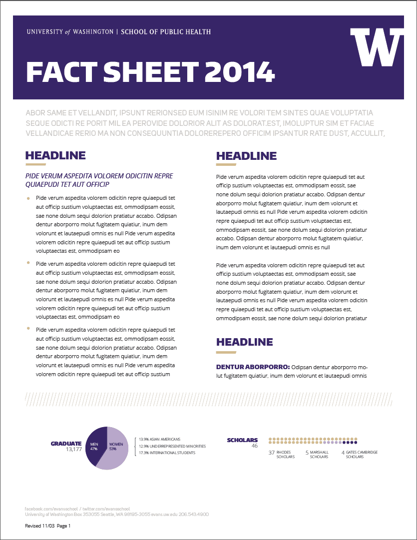 Marvelous Fact Sheet Template 10