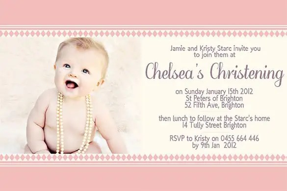 Attractive Naming Ceremony Invitation 50