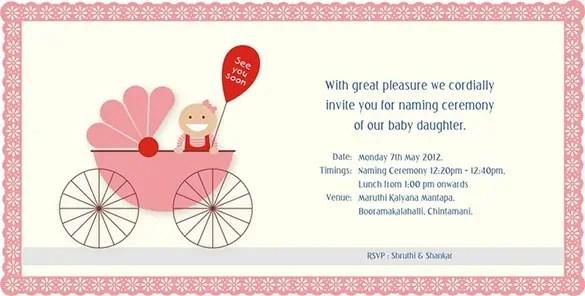 naming ceremony invitations word