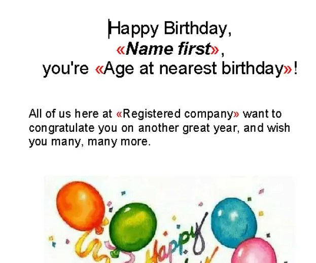 Happy Birthday Email Template 80