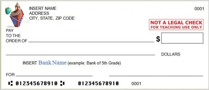 editable blank check template
