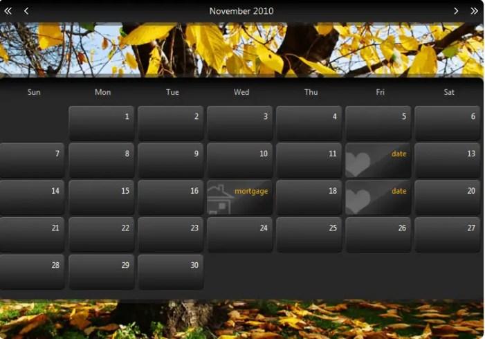 Html Calendar Templates Word Excel Samples