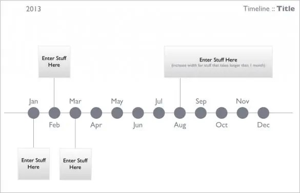 Keynote Timeline Templates  Word Excel Samples