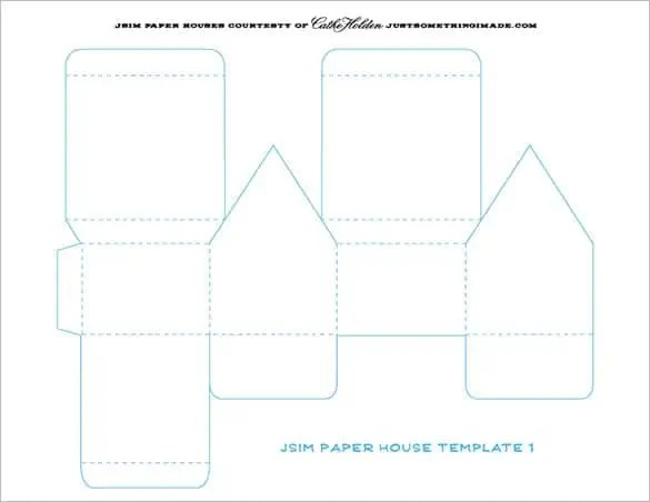 Paper House Template 999 ...
