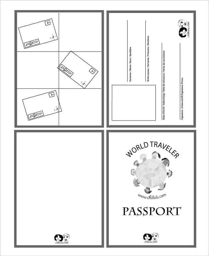 Passport Templates - Word Excel Samples