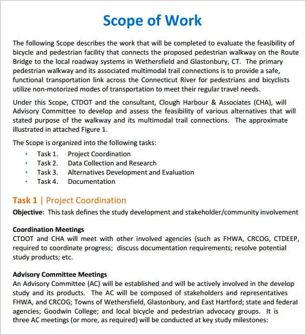 format for scope of work