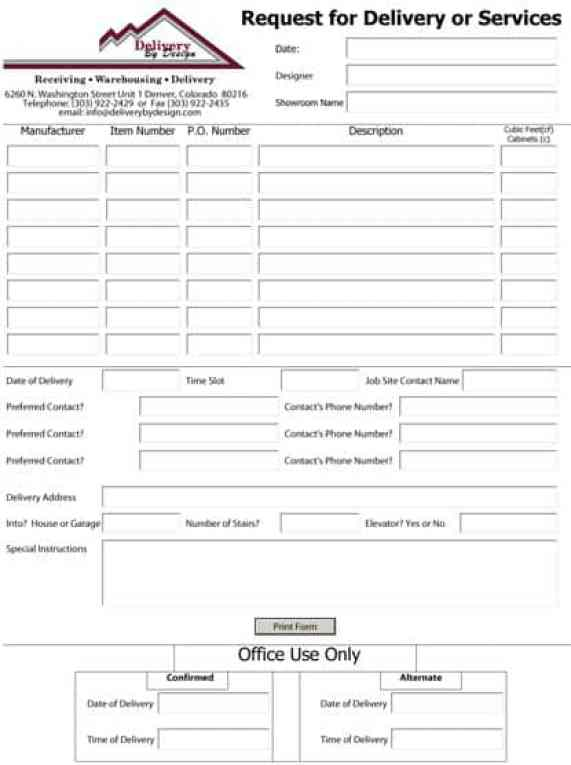 Service Request Form Template 20
