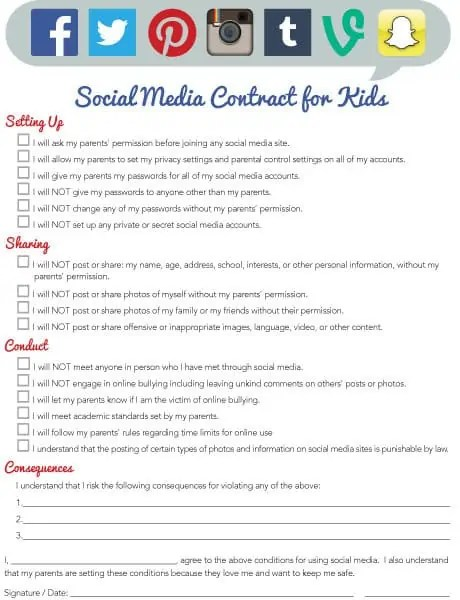 Social Media Contract Templates - Word Excel Samples