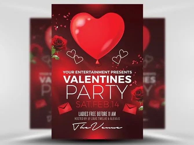 Free Valentines Day Flyer Templates Word Excel Samples
