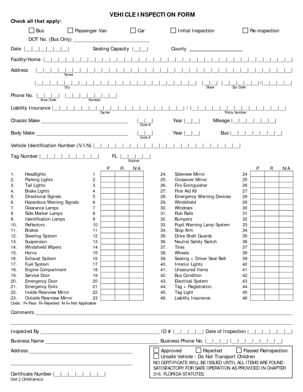 Vehicle Condition Report Template 70