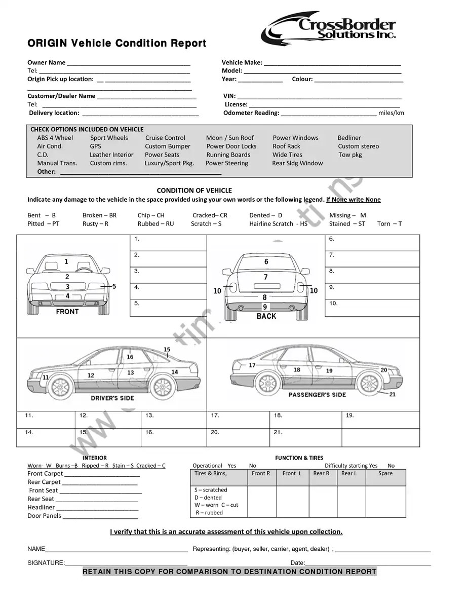 commuter van damage inspection diagram lincoln arc welder wiring vehicle form www picsbud com condition report templates word excel samples png 1275x1650