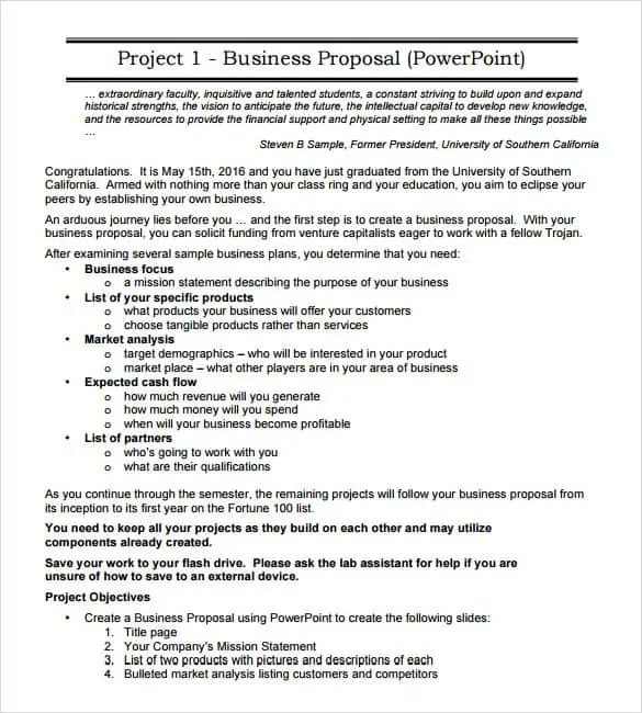 Business Proposals Templates » Free Business Proposal Letter