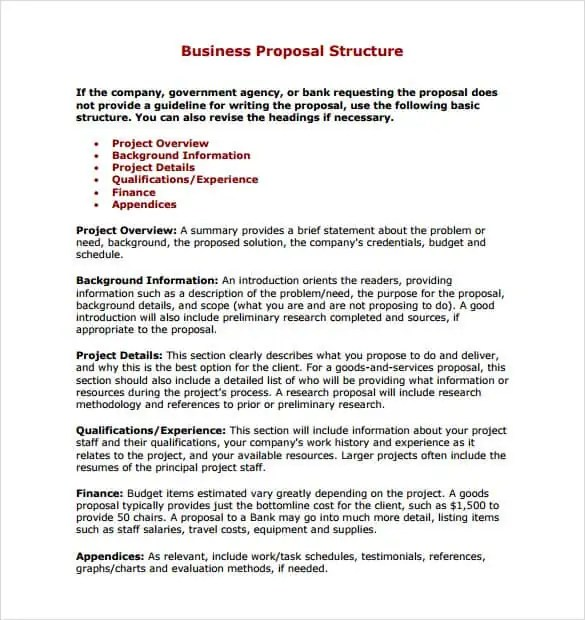 Service Proposal Template Template Examples – Service Proposal Template Word