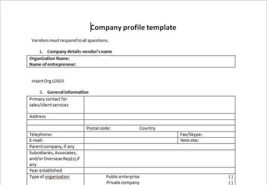 company profile template 20