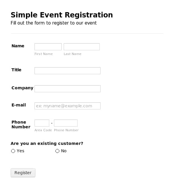 Printable Registration Form Templates Word Excel Samples – Enrolment Form Template