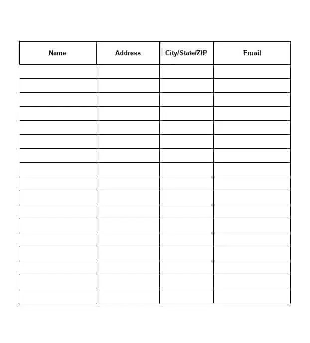 Sign In Sheet Templates Word Excel Samples – Sign in Sheet Samples in Word