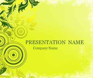 Green Ornament PowerPoint Background