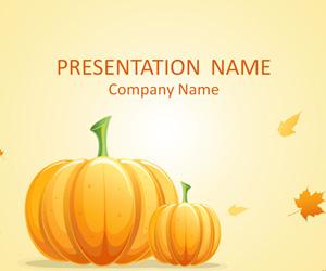 Fall Leaves And Pumpkins Wallpaper Pumpkin Powerpoint Template Templateswise Com