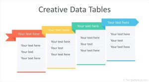 Creative Data Tables for PowerPoint  Templateswise