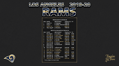 20192020 Los Angeles Rams Wallpaper Schedule