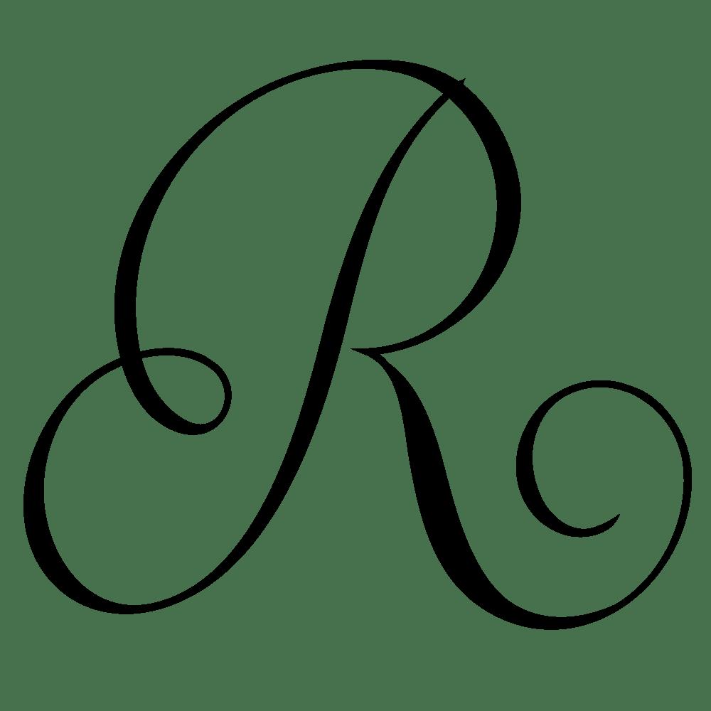 r monogram clipart