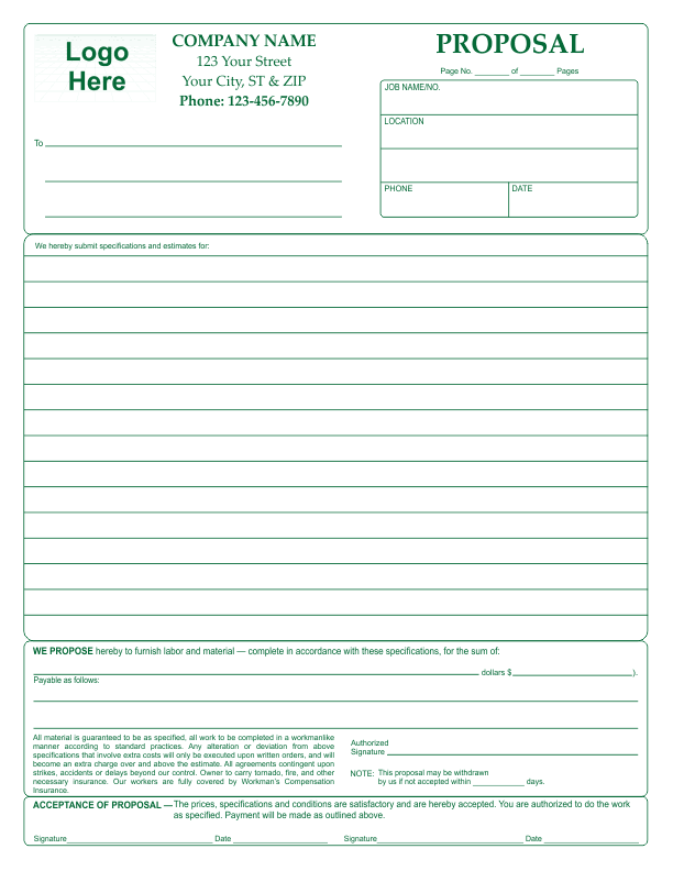 Proposal Template 2