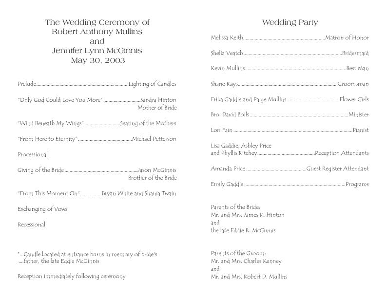 Wedding Program Template 3