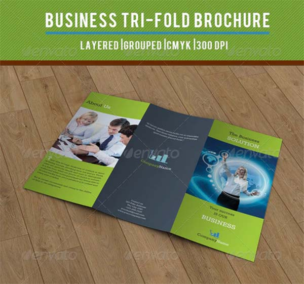 Business Solution PSD Trifold Design