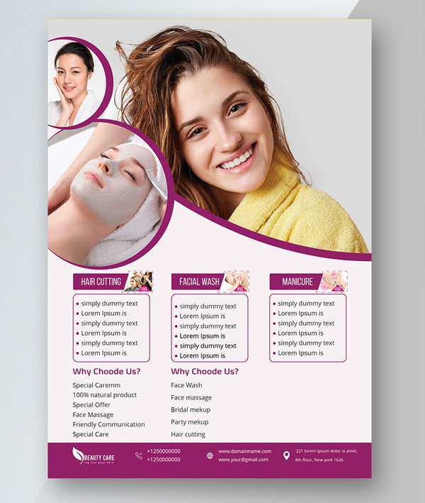 Free Skin Care Flyer Template