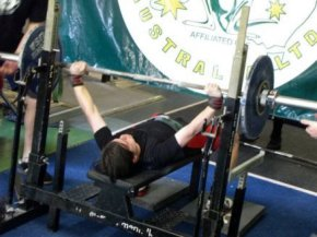 Novice Powerlifting competition Benchpress