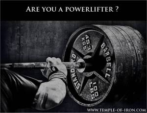 Are you a powerlifter ?