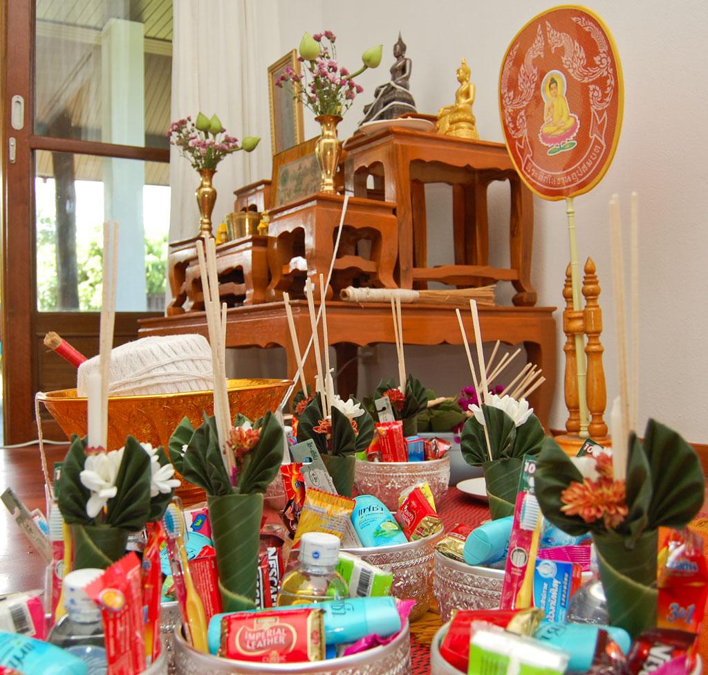 Thai Housewarming Ceremony – Monks Family Friends & Food