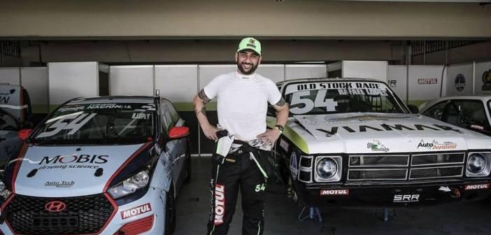 Rafael Lopes preparado para a disputa da primeira etapa da Old Stock Race 2019