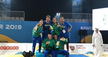 Capitão do Beach Tennis do Brasil se diz satisfeito com os resultados da modalidade nos Jogos Mundiais de Praia.