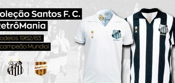 Em parceria com a RetrôMania, Santos FC lança camisa comemorativa ao Bicampeonato Mundial de clubes