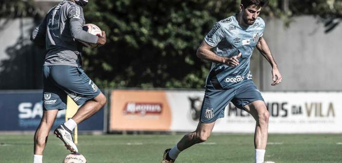 Luan Peres comemora retorno aos treinos no Santos