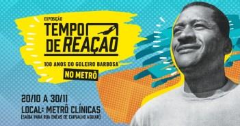 Museu do Futebol leva exposição que homenageia Barbosa à Estação Clínicas do Metrô