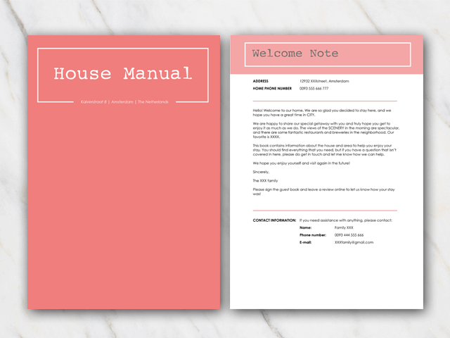TIP AirBnB House Manuals And Welcome Letter Templates
