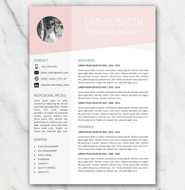 modern resume template for mac