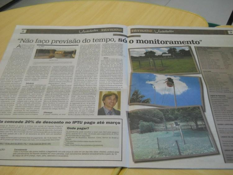 Matéria no jornal Informativo de Teutônia
