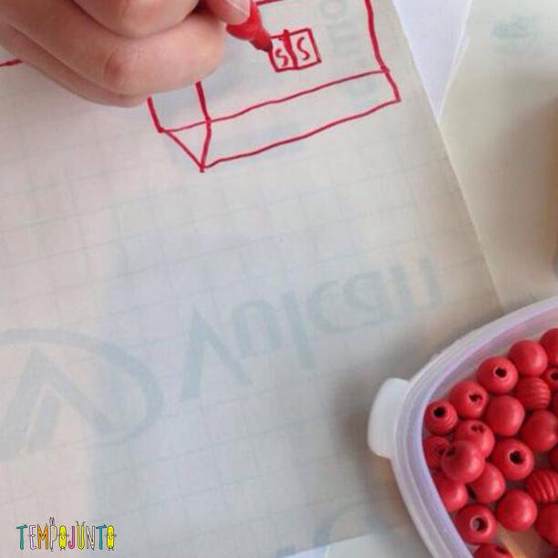 arte com papel contact - desenhando