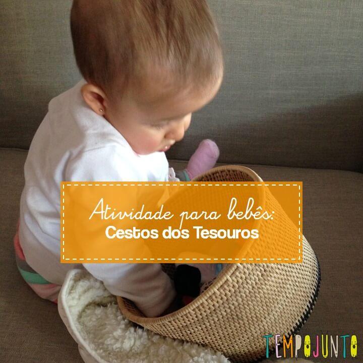 Cestos dos tesouros – atividade para bebês
