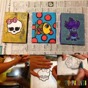 melhores ideias de atividades artísticas quadro