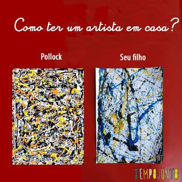 No Dia do Artista, uma arte muito divertida inspirada em Pollock