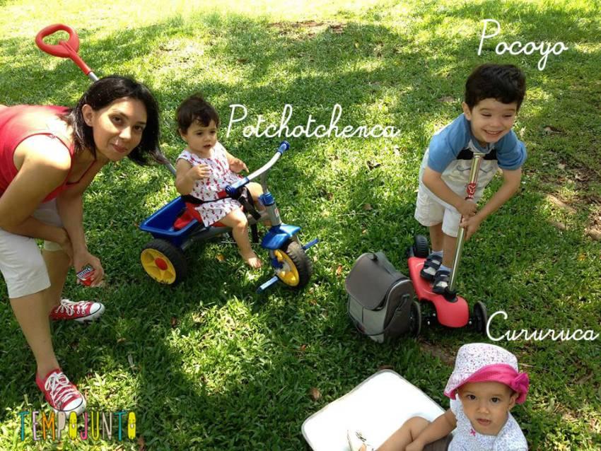 As crianças e Pat Camargo
