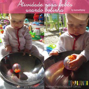 Atividades com bola no tempojunto: bolas para bebes