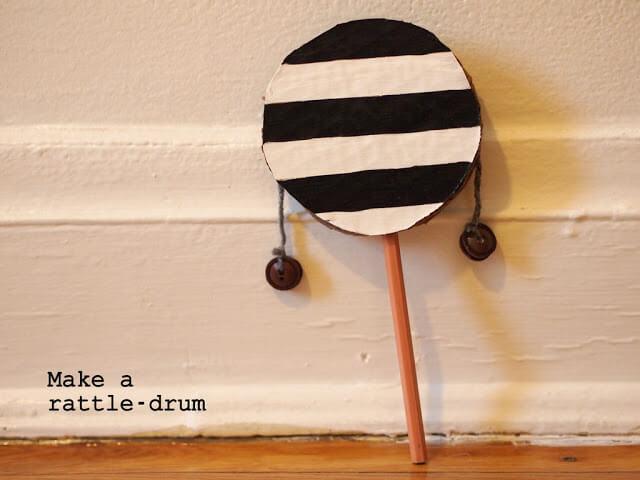 Como fazer instrumentos musicais com crianças - um tambor chinês