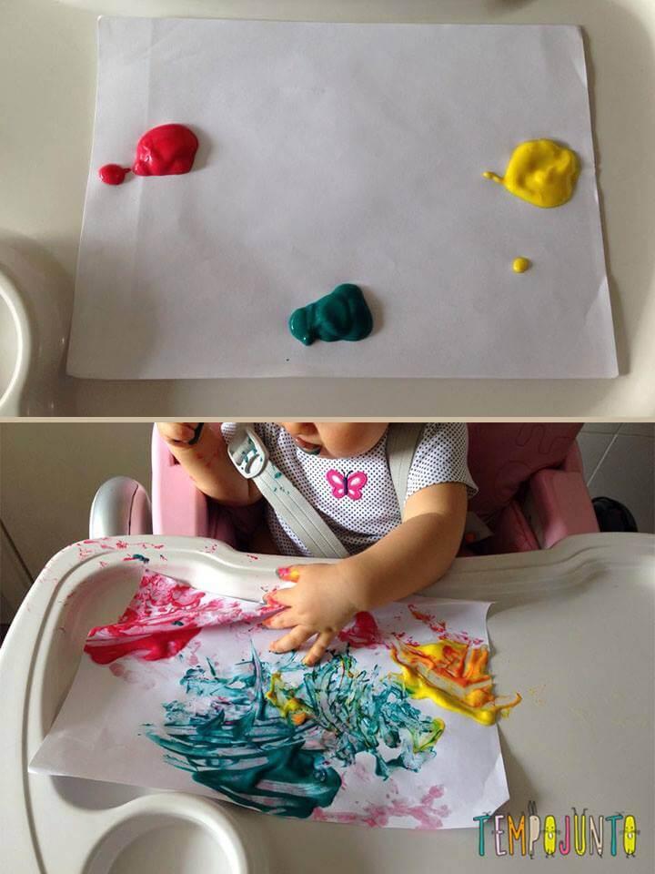 Como era e como ficou a tinta comestivel