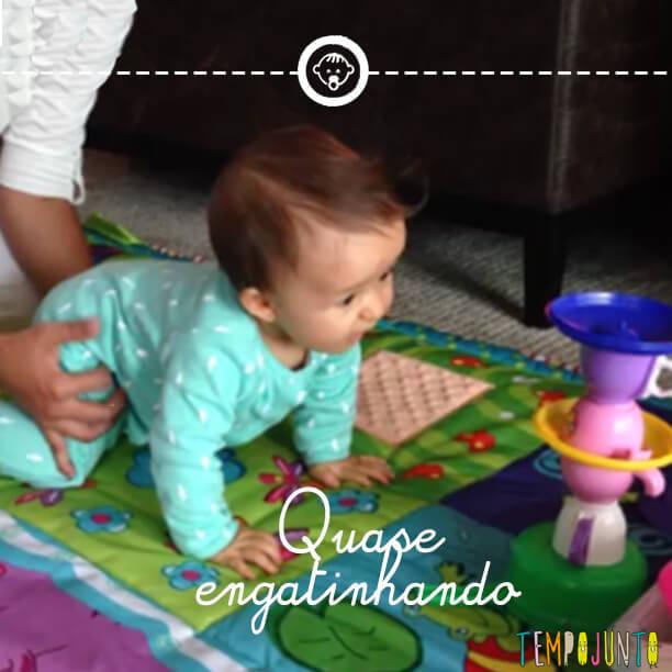 Desenvolvimento do bebê 7: quase engatinhando