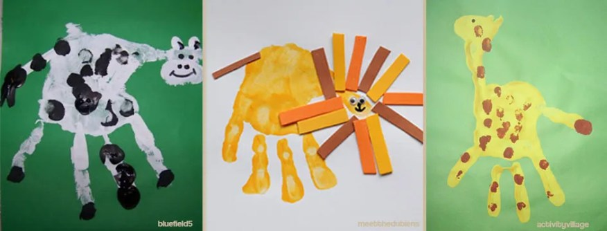 Vaca leao e girafa